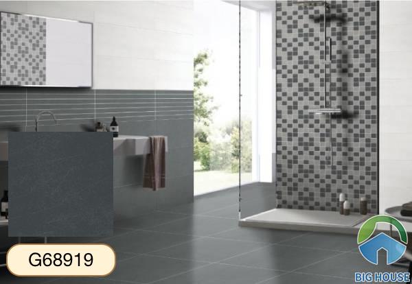 Gạch lát nền nhà tắm màu xám Taicera G68919