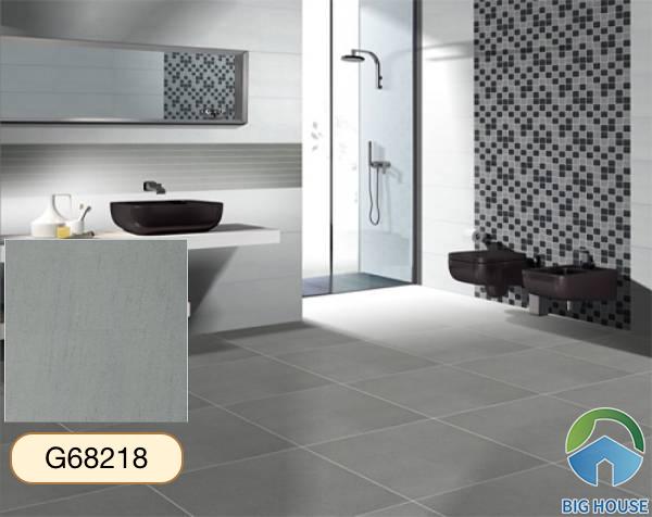Gạch lát nền nhà tắm màu xám Taicera G68218