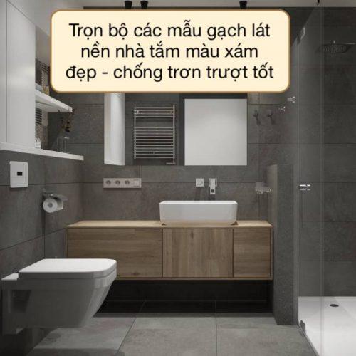 10+ Mẫu gạch lát nền nhà tắm màu xám Đẹp Đỉnh Cao 2021