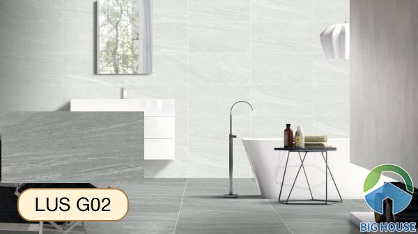 Gạch lát nền nhà tắm màu xám Viglacera LUS G02
