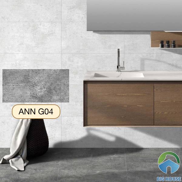 Gạch lát nền nhà tắm màu xám Viglacera ANN G04
