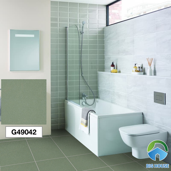 Gạch lát nền nhà tắm màu xanh Taicera G49042