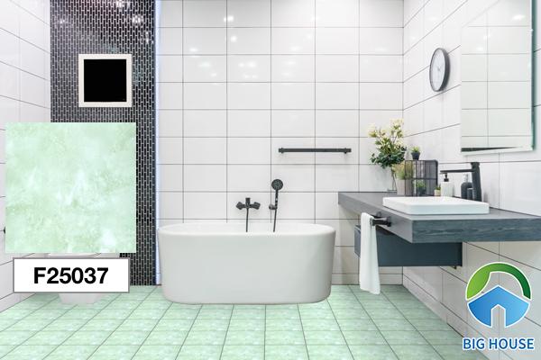Gạch lát nền nhà tắm màu xanh Taicera F25037
