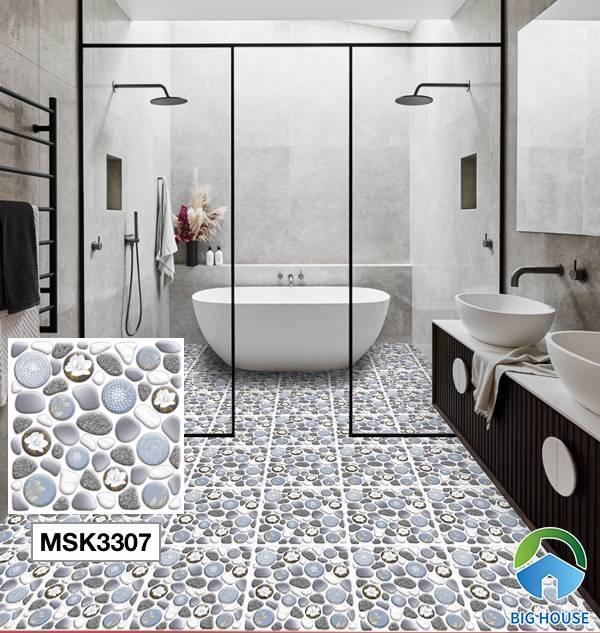 Gạch lát nền nhà tắm màu xanh Mikado MSK3307