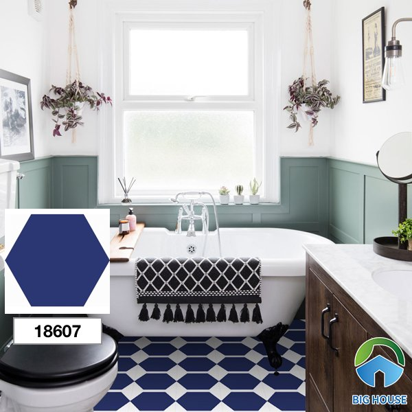 Gạch ốp nhà tắm màu xanh 18607