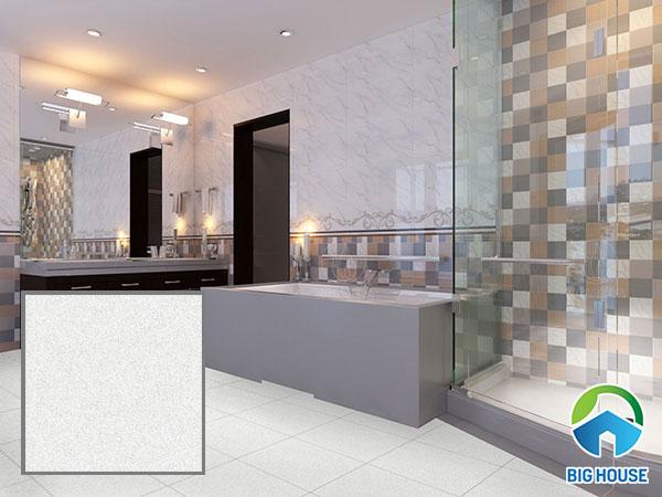 gạch lát nền nhà vệ sinh 40x40 hiện đại