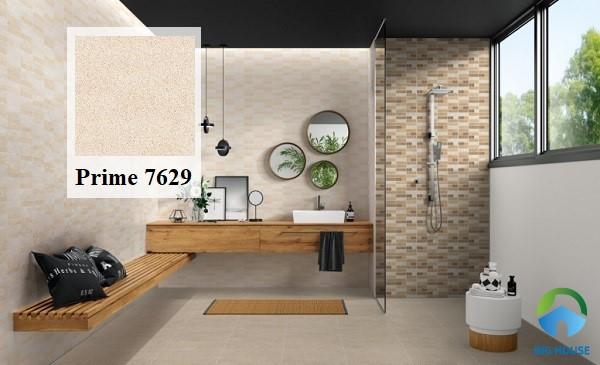 Mê mẩn với mẫu gạch gam màu nâu nhẹ nhàng lát phòng tắm Prime 7629