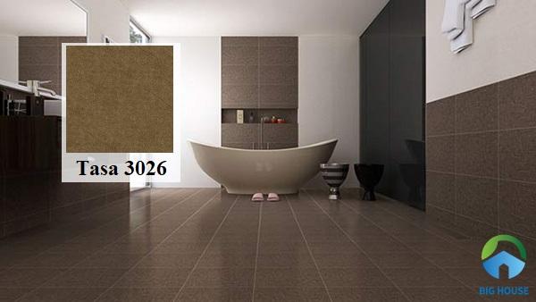 Nếu bạn có ý định chọn gạch lát nền màu nâu cho phòng tắm thì đừng bỏ lỡ mẫu gạch Tasa 3026 30x30