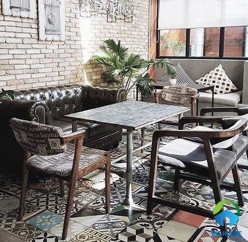 gạch lát nền quán cafe đẹp