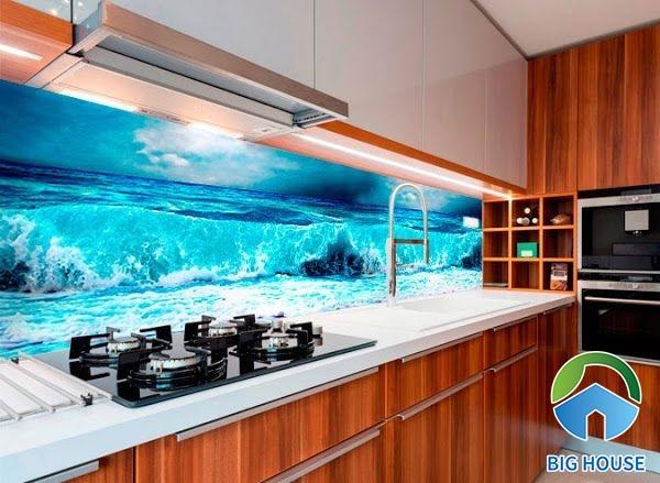 Gạch ốp bếp 3D