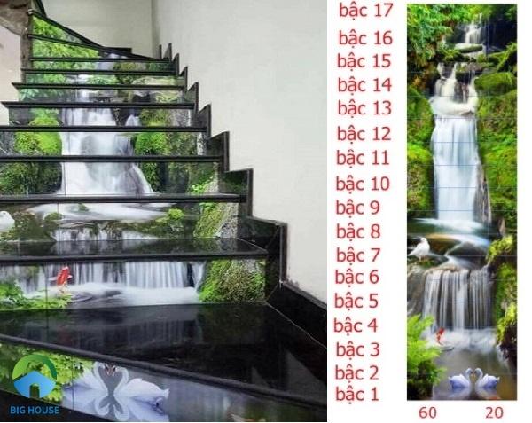 Mẫu gạch ốp cầu thang 3d độc đáo