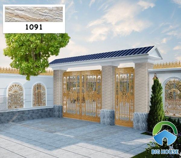 Gạch ốp cổng nhà đẹp 1091