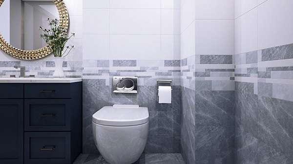 Dòng gạch này chỉ áp dụng với những phòng tắm có diện tích vừa trở lên