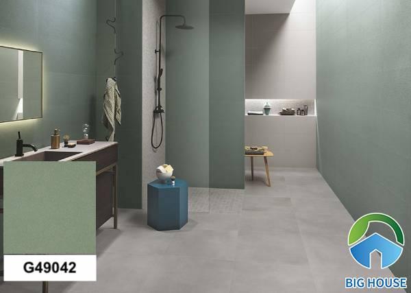 Gạch ốp nhà tắm màu xanh Taicera G49042
