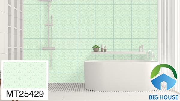 Gạch ốp nhà tắm màu xanh Mikado MT25429