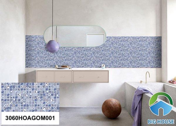 Gạch ốp nhà tắm màu xanh Đồng Tâm 3060HOAGOM001
