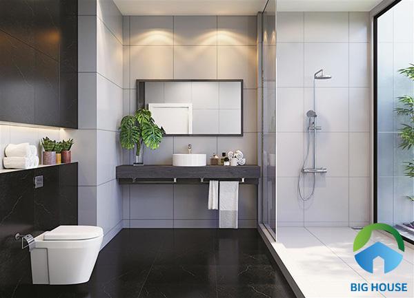 Gợi ý TOP mẫu gạch ốp nhà vệ sinh màu đen Giá Rẻ nhất 2021