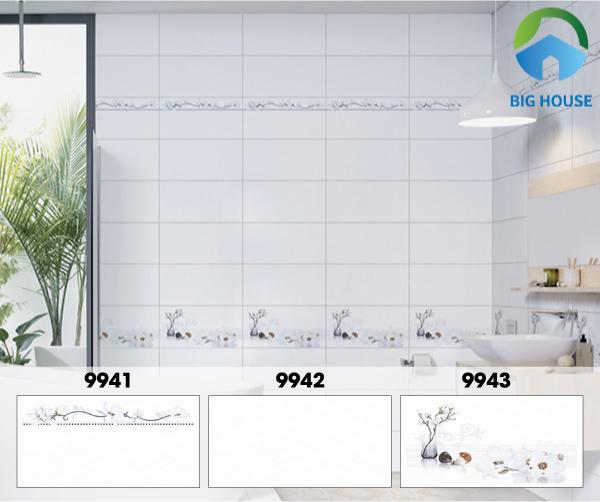 Không gian phòng tắm thật sáng và thoáng đãng với mẫu gạch ốp tường phòng tắm Prime 9942