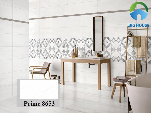 Mẫu gạch Prime 8653 30x60 vân mờ ốp tường nhà vệ sinh độc lạ và rất cuốn hút