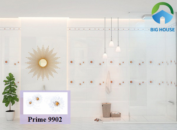 Gạch Prime 9902 thuộc top các mẫu gạch tone trắng bán chạy nhất hiện nay
