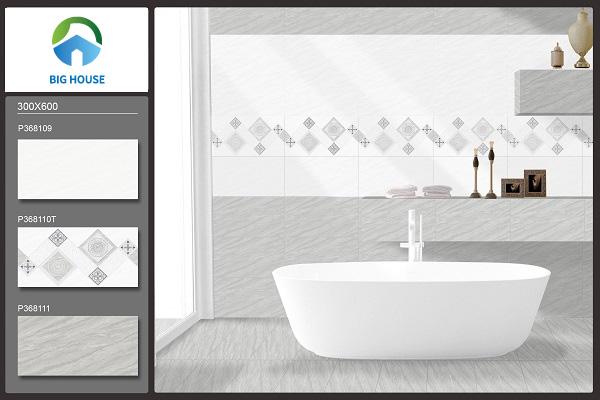 Tham khảo mẫu gạch Ý Mỹ P36B11 tone trắng ốp tường phòng tắm