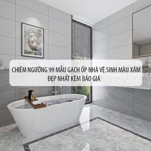 99 Mẫu gạch ốp nhà vệ sinh màu xám Đẹp nhất kèm báo giá