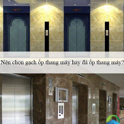 Nên chọn gạch ốp thang máy hay đá ốp thang máy? Tư vấn chi tiết