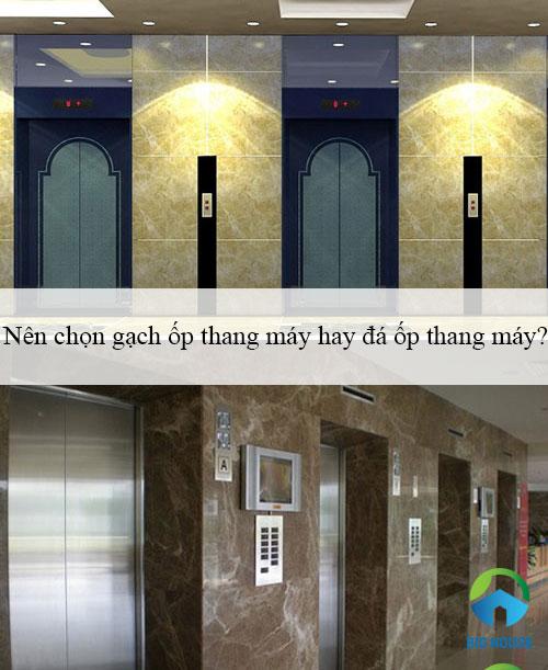 Nên chọn gạch ốp thang máy hay đá ốp thang máy để Tối ưu nhất?