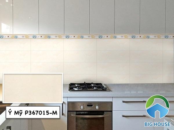 Gạch ốp tường bếp 30x60 Ý Mỹ P367015-M màu hồng vân đá nhẹ nhàng