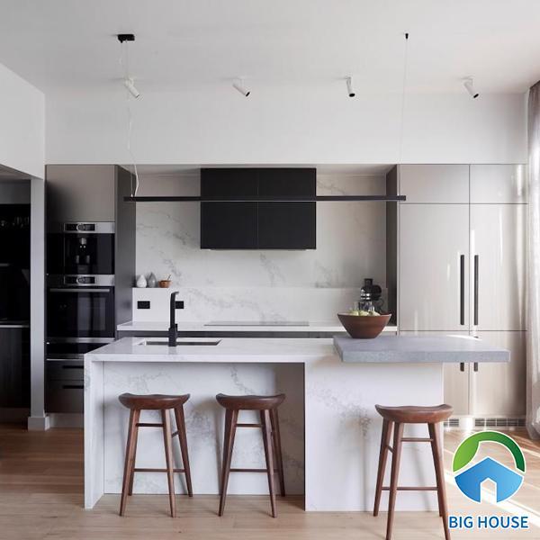 Kinh nghiệm ứng dụng gạch ốp tường bếp 30x60 đạt thẩm mỹ
