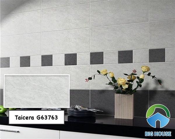 Gạch ốp Taicera G63763 màu ghi xám nhẹ nhàng, cho nhà bếp ấn tượng