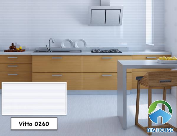 Gạch 30x60 Vitto 0260 ốp tường bếp họa tiết sọc đẹp mắt