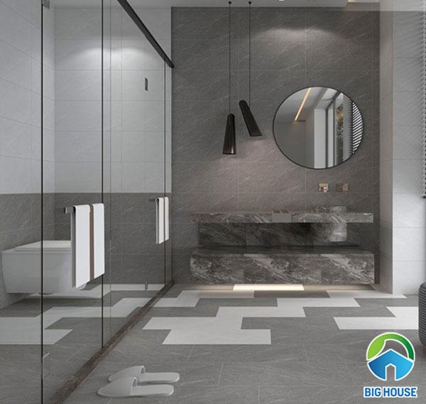 Bộ gạch Tasa họa tiết vân đá ốp tường nhà vệ sinh 3225 – 3226 (nhạt - đậm) thích hợp với không gian phòng tắm hiện đại