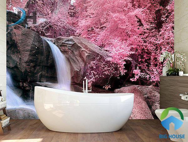 Bức tranh phòng gạch từ gạch ốp tường 3D tạo sự khác biệt cho phòng tắm nhà bạn