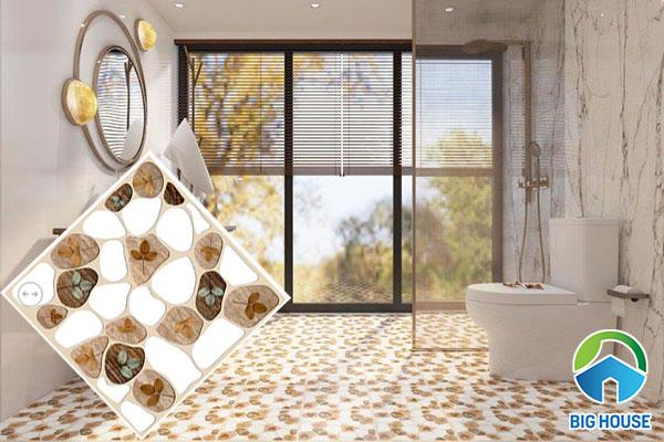 Gạch sỏi lát nền nhà tắm bắt mắt