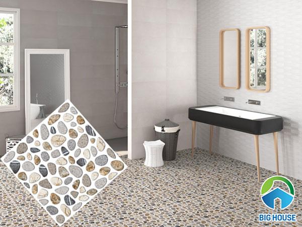 Gạch sỏi lát nền nhà tắm cho không gian hiện đại