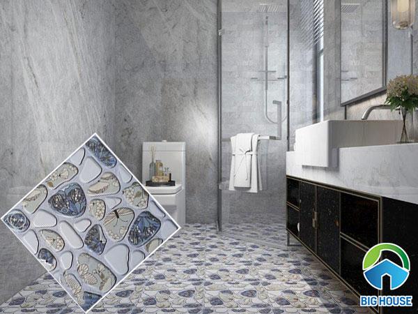 Gạch sỏi lát nền nhà tắm độc đáo