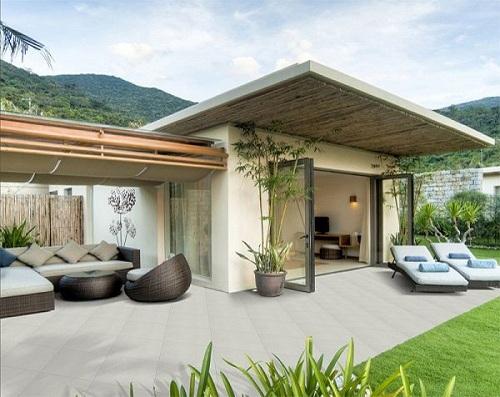 Gạch lát sân vườn Taicera cho không gian resort