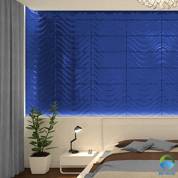 Gạch thẻ xanh sóng nước ấn tượng dành cho phòng ngủ