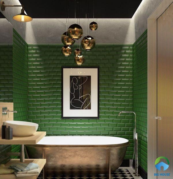 Kết hợp phong cách hiện đại chấm phá thêm vài nét cổ điển giúp phòng tắm nhà bạn thật đặc biệt