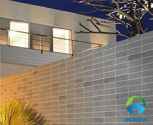 gạch thẻ ốp tường cho khu vực ngoại thất