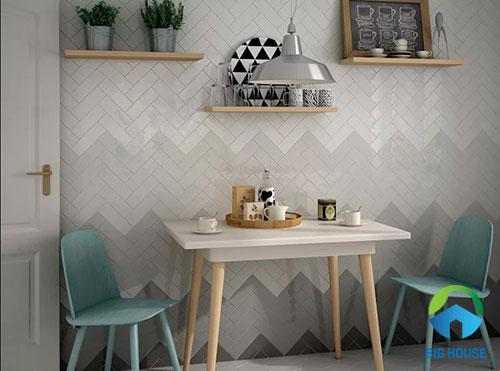 gạch thẻ trắng ốp tường 2