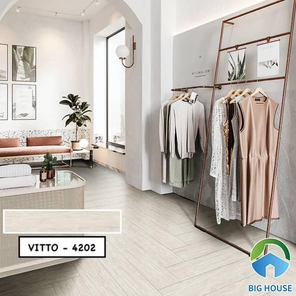 Gạch vân gỗ 15x80 Vitto 4202