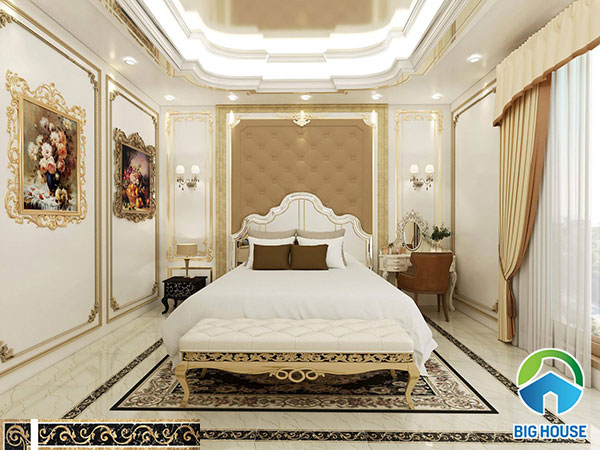 gạch viền 15x80 phòng ngủ đẹp mắt