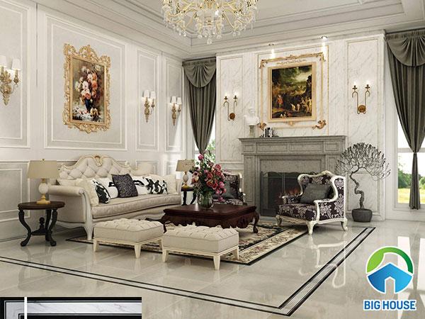 gạch viền 15x80 trang trí phòng khách