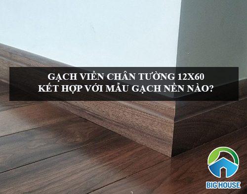 Gạch viền chân tường 12×60 kết hợp với mẫu gạch nền nào?