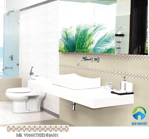 gạch viền ốp tường nhà tắm đẹp