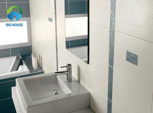 gạch viền nhà tắm giúp tạo điểm nhấn cho nhà tắm