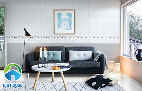 Cách dùng gạch viền phòng khách và Top mẫu gạch Ấn tượng