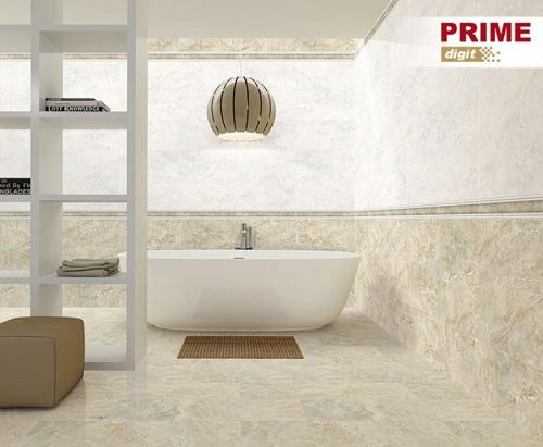 Mẫu gạch điểm giả đá tạo nên sự ấn tượng cho nhà tắm